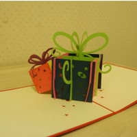 Kartu Ucapan 3D - Gift box