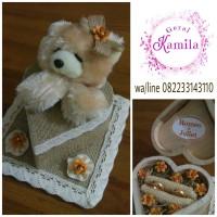 kotak cincin boneka ring box rustic tunangan pernikahan murah unik