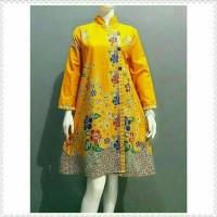 Tunik Batik Aira Kuning Atasan Batik Wanita Tunik Kerja Batik