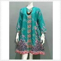 Tunik Batik Aira Tosca Atasan Batik Wanita Tunik Kerja Batik