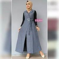 baju gamis wanita terbaru /kalani dress remaja muslim