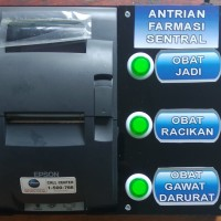 Mesin printer antrian tipe Epson dot matrix auto cutter murah