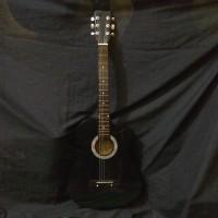 Gitar yamaha akustik pemula hitam coak