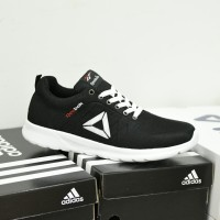 Sepatu Sport Pria Reebok SpeedLux Sneakers Casual Running Hitam Putih