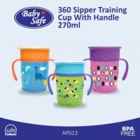 Baby Safe Training Cup - 360° Sipper Cup With Handle