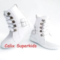 Sepatu Anak High Boots Putih Rock N Roll