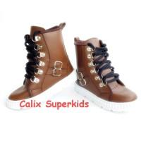 Sepatu Anak High Boots Coklat Rock N Roll