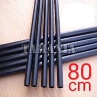 Batang Anak Panah Shaft Fiber 6mm x 4mm x 80cm Spine 1000