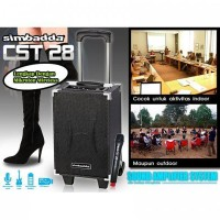 Speaker simbada CST 28 trolly amplifier sound system