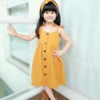 BUTTON DRESS | Dress anak model korea | Dress Anak bahan katun