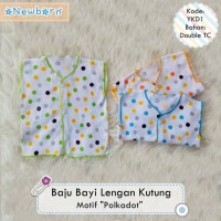 Baju Kutung / Tanpa Lengan Bayi Newborn Motif Polkadot murah