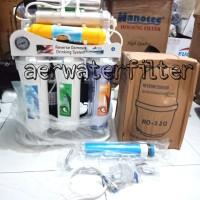Mesin Filter Air Minum RO 10 STAGE 100 GPD + UV +Alkali