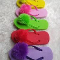 Sandal Pompom Flat Anak Termurah