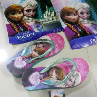 Sandal Jepit Anak Perempuan Wedges Spon Frozen 901 Termurah