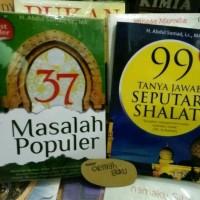 PAKET buku 37 MASALAH POPULER DAN 99 Tanya jawab seputar shalat -