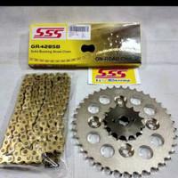Gear Set SSS Karisma / Supra X 125 / Supra Fit New / Blade rantai Gold