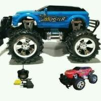 mainan anak RC mobil big foot monster off road 1:24
