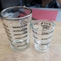 Zuma Espresso Shot Glass Gelas Ukur One Shot Gelas Kopi Coffee