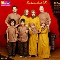 New Sarimbit Family Nibras 58 Kuning Kubus Baju Muslim Couple Keluarga