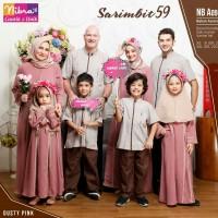 Sarimbit Family Nibras 59 Warna Dusty Pink Baju Muslim Couple Keluarga