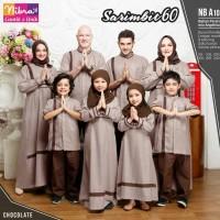 Sarimbit Lebaran Nibras Family 60 Coklat Baju Muslim Couple Keluarga