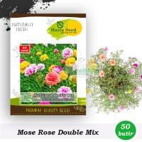 Benih-Bibit Bunga Mose Rose Double Mix (Haira Seed)
