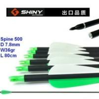 Arrow Anak Panah Carbon Mix 8mm Spine 500 SHINY