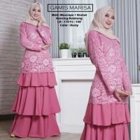 Baju Atasan Wanita Maxi Dress Baju Muslim Gamis Marisa Dusty Tashi.342