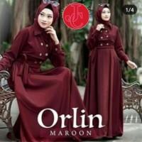 Baju Atasan Wanita Maxi Dress Baju Muslim Orlin Maxi Maroon Tafj.115