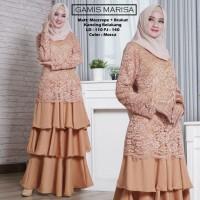 Baju Atasan Wanita Maxi Dress Baju Muslim Gamis Marisa Mocca Tashi.342