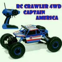 mainan anak mobil RC crawler off road captain america