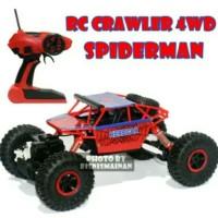mainan anak mobil RC crawler off road spiderman