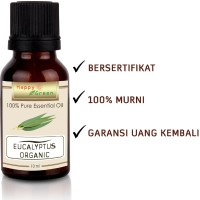 Happy Green ORGANIC Eucalyptus Globulus Essential Oil (10 ml) -Murni