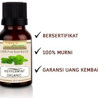 Happy Green ORGANIC Peppermint Essential Oil (10 ml) - Minyak Mint