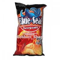 Blue Seal Potato Chips Hot & Spicy Snack 150gr   Keripik Kentang Pedas