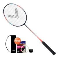 Raket Badminton Victor Thruster K 770 HT + Tas Cover + Senar VBS 63 + - 4U G5