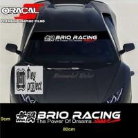 sticker stiker brio racing mobil honda kaca