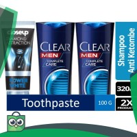 Paket Clear Men Complete Care & Close Up Diamond Attraction