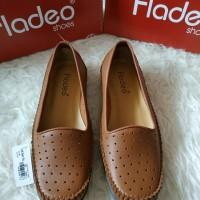 sepatu Flatshoes brown merk FLADEO