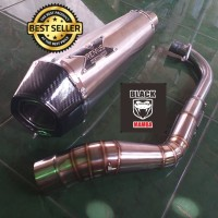 Knalpot REMUS X Hexagone Titan Fullsystem Nmax Aerox Vario PCX Beat