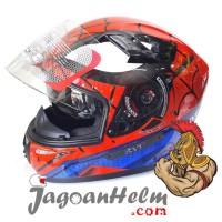 KYT Helm K2 Rider SPIDERMAN | RED BLUE | Full Face