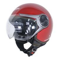 Cargloss YR HC Ghotic Helm Half Face - Deep Red Mett