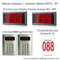 Mesin Antrian Paket 2 Receiver Host Layar 2 Keypad Wireless 100 Kartu