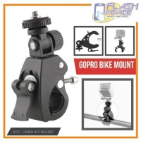 Clamp Bike Mount Adapter Sepeda for Xiaomi Yi/GoPro/Brica Action Cam
