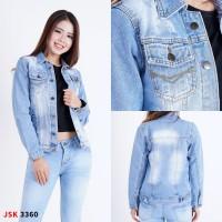 jaket wanita jeans distroy size M-XXL