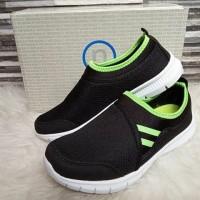 sepatu sport nevada warna hitam lime
