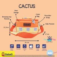 GabaG Cooler Bag (pendingin ASI) Sling Cactus Free Ice Gel 2pcs