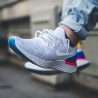 Sepatu Casual Nike Epic React White Blue Pink BNIB Premium Realpict