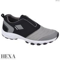 Sepatu Pria Sneakers Olahraga Slip On Casual Tanpa Tali Original - Abu