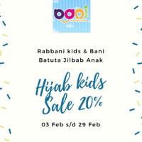 Jilbab Rabbani Kerudung Anak Bani Luna, 5-6thn Ready Coklat Best New